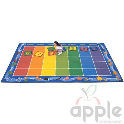 Calendar Rectangle Rug - Carpets for Kids - Free Shipping
