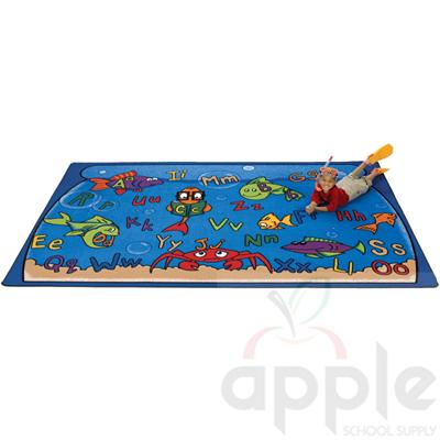 Alphabet Aquarium Rectangle Rug - Carpets for Kids