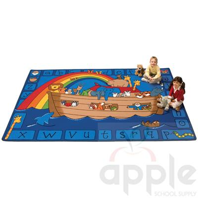 Alphabet Noah Rectangle Rug - Carpets for Kids - Free Shipping