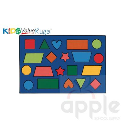 Color Shapes Rectangle Carpet - Carpets for Kids