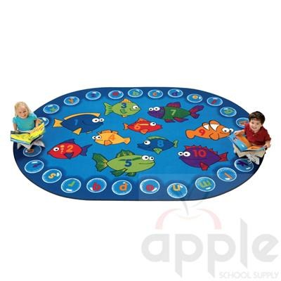 Fishing for Literacy Rug - Carpets for Kids