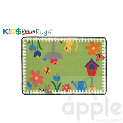 Garden Time Rectangle Rug - Carpets for Kids
