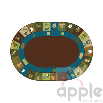 Learning Blocks Nature Oval Rug - Carpets for Kids - Free Shipping