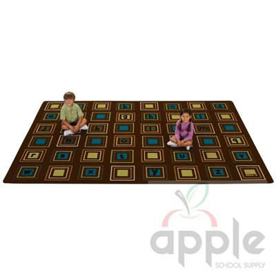 Literacy Squares Rectangle Rug - Carpets for Kids