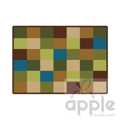 Nature Blocks Rectangle Seating Rug - Carpets for Kids