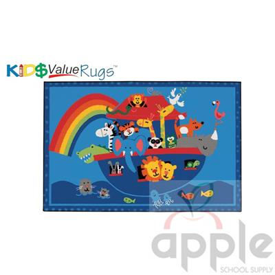 Noah's Animals Rectangle Rug - Carpets for Kids