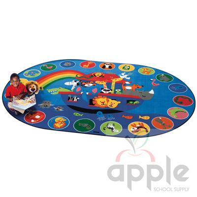Noah's Voyage Circletime Oval Rug - Carpets for Kids - Free Shipping