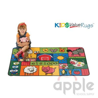 Old MacDonald Farm Rectangle Rug - Carpets For Kids