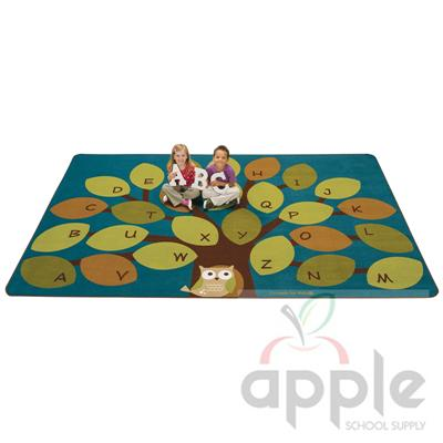 Owl-Aphabet Tree Rectangle Rug - Carpets For Kids - Free Shipping