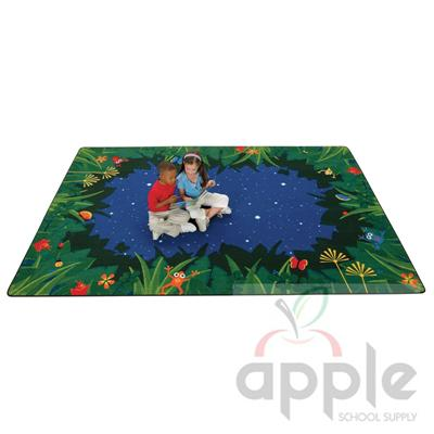 Peaceful Tropical Nights Kids Rectangle Rug - Carpets for Kids