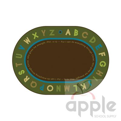 Philippians 4:13 Literacy Rug - Nature Oval Rug - Carpets for Kids