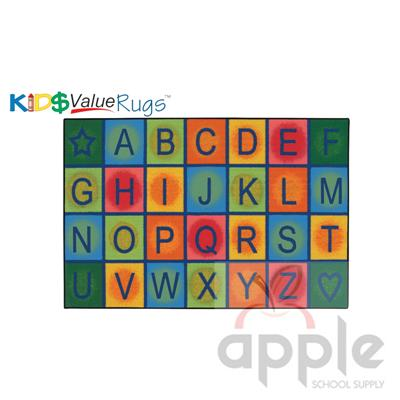 Simple Alphabet Rectangle Rug Carpets For Kids - Free Shipping