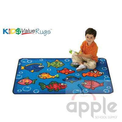 Something Fishy Rectangle Rug - Carpets For Kids - Free Shipping
