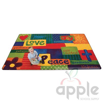Spiritual Fruit Painted Rectangle Rug - Carpets for Kids