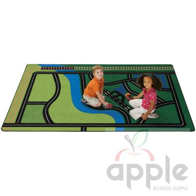 Transportation Fun Rectangle Rug - Carpets For Kids - Free Shipping