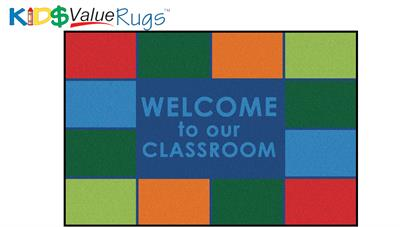 Classroom Welcome Rectangle Rug - Carpets for Kids - Free Shipping