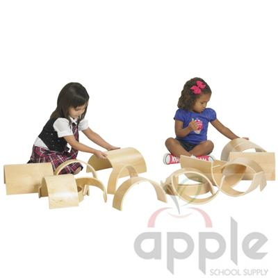 ECR4Kids Wooden Tunnels and Arches - 20 Pc. Set ELR-0333