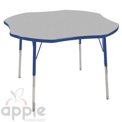 "ECR4Kids Adjustable Activity Table - Clover 48""Dia.  ELR-14101-XX"