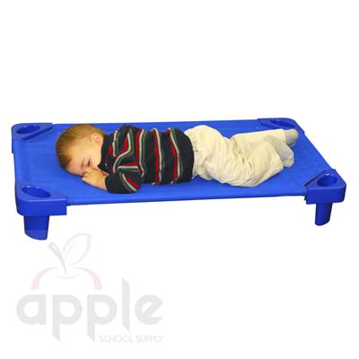 ECR4Kids Stackable Kiddie Cot Toddler RTA - Blue  ELR-16114