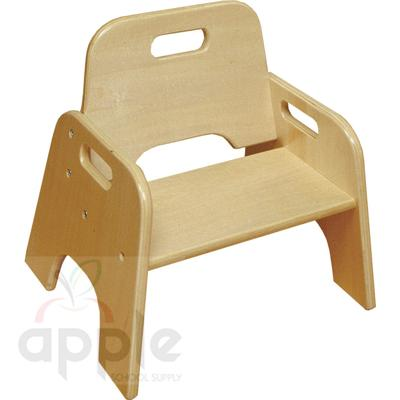"ECR4Kids Wooden Toddler Seat RTA - 6"" Seat Height - Pack of 2  ELR-18005"