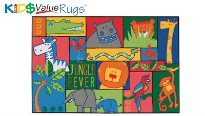 Jungle Fever Rectangle Rug - Carpets for Kids
