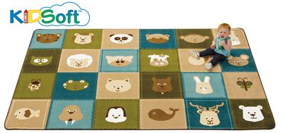 KIDSoft Animal Patchwork Rug