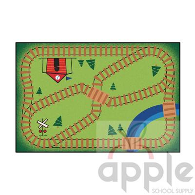 Railroad Playtime Rug - Carpets for Kids