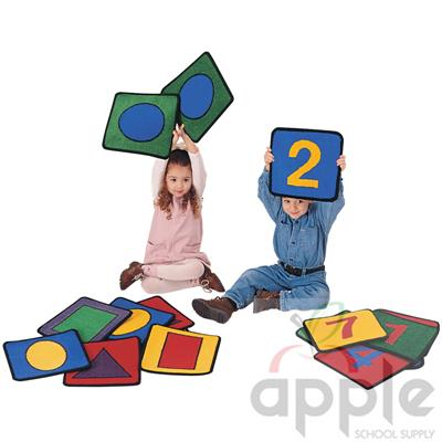 Shape Number Squares - Carpets For Kids
