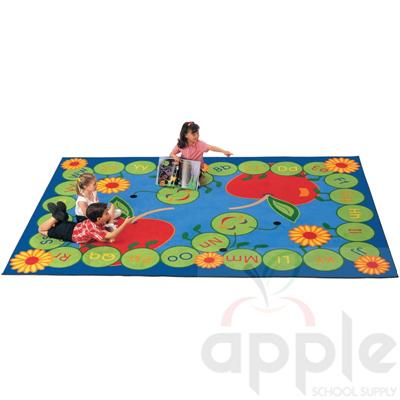 ABC Caterpillar Rectangle Rug, Carpets for Kids
