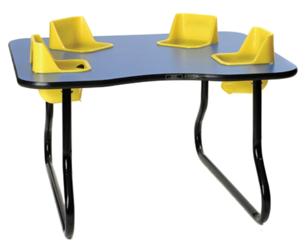 super sale 4 seat space saver toddler table lowest price guaranteed. Black Bedroom Furniture Sets. Home Design Ideas