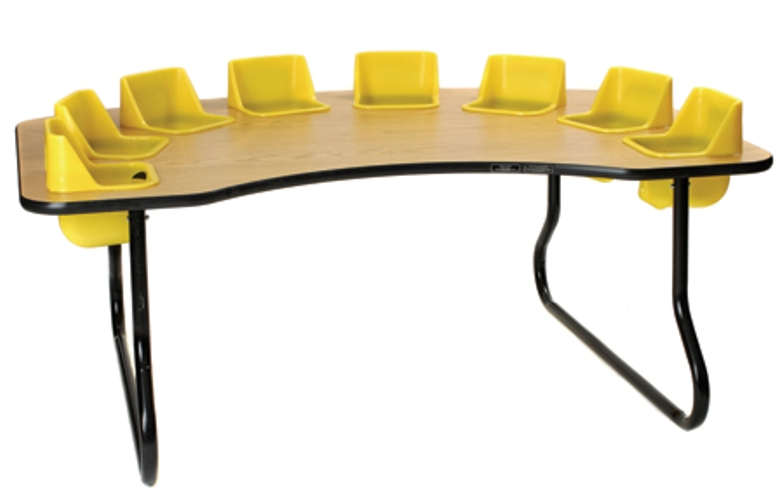 super sale 8 seat toddler table lowest price guaranteed. Black Bedroom Furniture Sets. Home Design Ideas