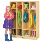 Jonti-Craft 0268JC COAT LOCKER 4 SECTIONS APPLE SCHOOL SUPPLY