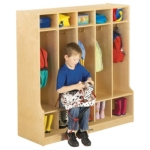 Jonti-Craft 0468JC COAT LOCKER WITH STEP