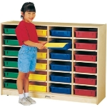 24 PAPER-TRAY STORAGE / CUBBIE - Jonti-Craft 0625JC