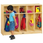 Jonti-Craft 2684TK TODDLER COAT LOCKER 5 SECTIONS APPLE SCHOOL SUPPLY