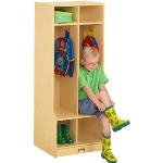 Jonti-Craft 4682JC Double Coat Locker APPLE SCHOOL SUPPLY