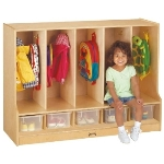 Jonti-Craft 66850JC TODDLER COAT LOCKER WITH STEP