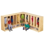 6682JC TODDLER CORNER COAT LOCKER w/STEP - Jonti-Craft 6682JC