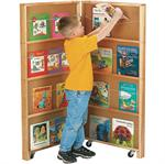 Room Divider - 2 Section Mobile Library Bookcase - Jonti-Craft - 2671JC
