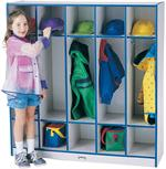 5 Section Coat Locker Jonti-Craft Rainbow Accents