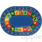 Bilingual Circletime Oval Rug - Carpets for Kids
