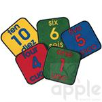 Bilingual Number Squares Kit - Carpets For Kids