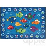 Fishing for Literacy Rectangle Rug - Carpets for Kids
