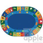 Learning Blocks Oval Oval Rug - Carpets for Kids - Free S