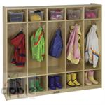 ECR4Kids Coat Locker - 5 Sections ELR-0425