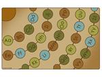 Radiating Alphabet Seating Circles Rectangle Rug - Nature