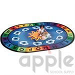 Sunny Day Learn & Play Oval Rug, Carpets for Kids