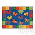 123 ABC Butterfly Fun Rectangle Rug - by Carpets for Kids