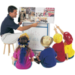 Jonti-Craft Rainbow Accents Big Book Easels - Write-n-Wi