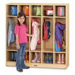Jonti-Craft MapleWave Coat Locker - 5 Sections 2681JC011